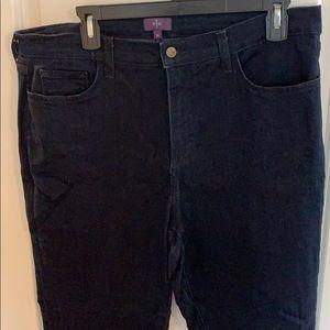NYDJ dark denim straight leg jeans size 14